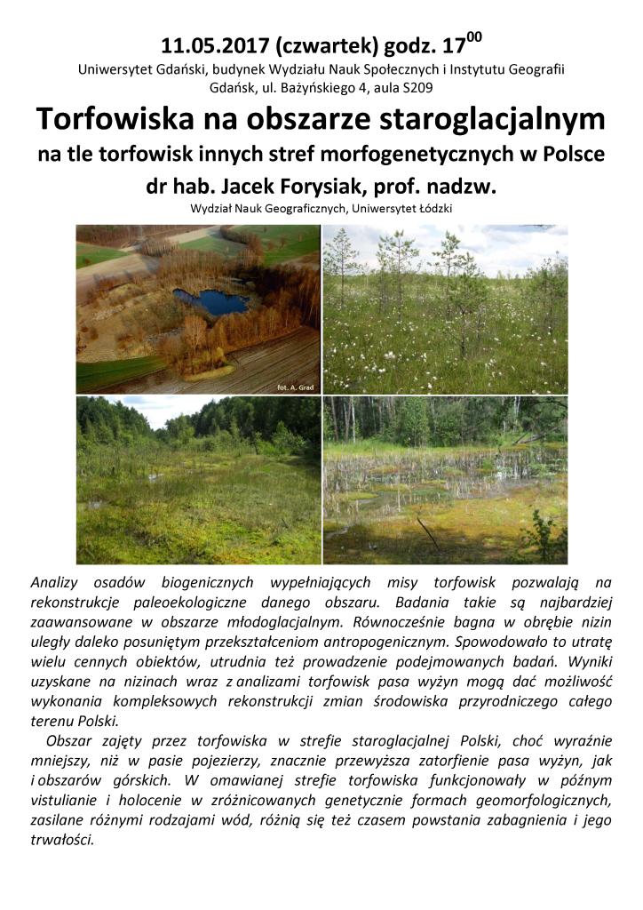 Torfowiska na obszarze staroglacjalnym na tle torfowisk innych stref morfogenetycznych w Polsce