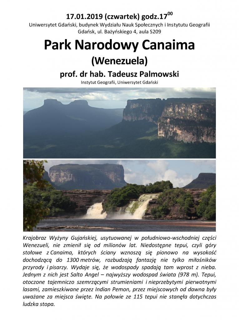 Park Narodowy Canaima (Wenezuela) prof. dr hab. Tadeusz Palmowski