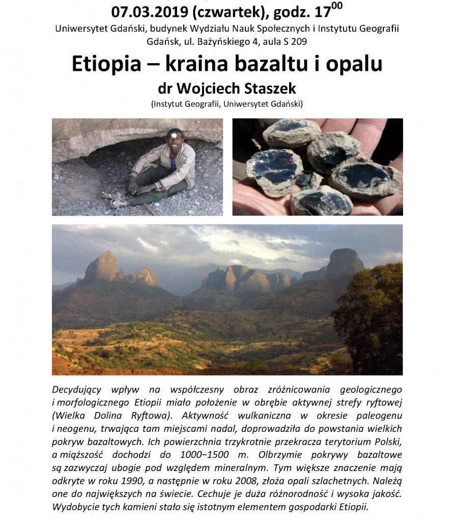 Etiopia – kraina bazaltu i opalu dr Wojciech Staszek