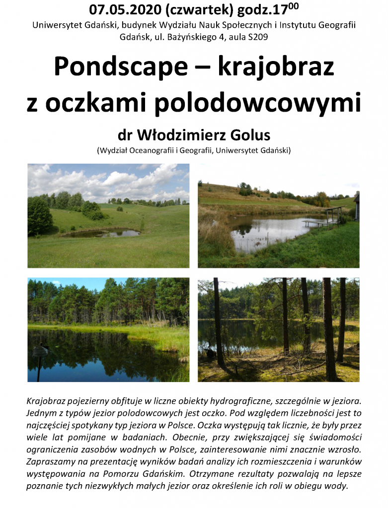 """Włodzimierz Golus: """"Pondscape – krajobraz z oczkami polodowcowymi"""""""