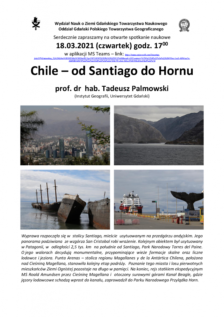 "Tadeusz Palmowski: ""Chile – od Santiago do Hornu"""